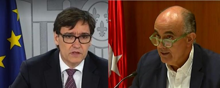 """Ultimátum de Salvador Illa a Isabel Díaz Ayuso: """"hay un serio riesgo para la salud en Madrid, hay que actuar YA"""""""