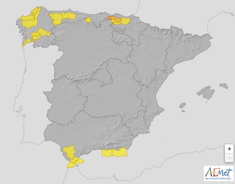 ¿El mundo al revés? Alerta de AEMET por calor en el Norte, por fuertes vientos en el Sur y chubascos en Canarias