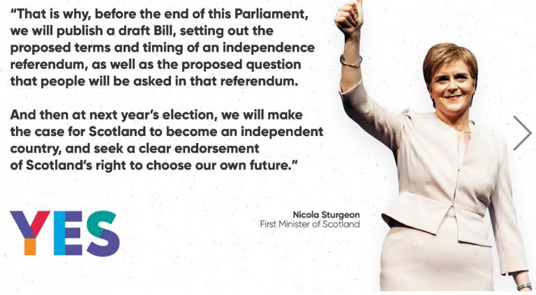 Nicola Sturgeon desafía a Johnson y anuncia que antes de mayo presentará el plan para un nuevo referéndum de Independencia