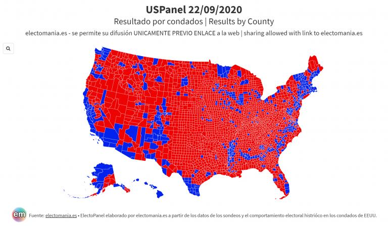 USPanel (22S): escenario inmóvil… que comienza a presionar a Trump