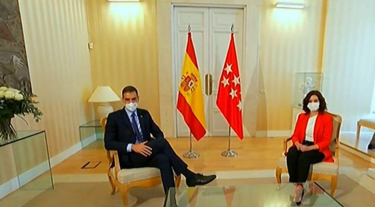 Sánchez señala que Madrid proporciona datos erróneos y Ayuso dice que él «miente por sistema»