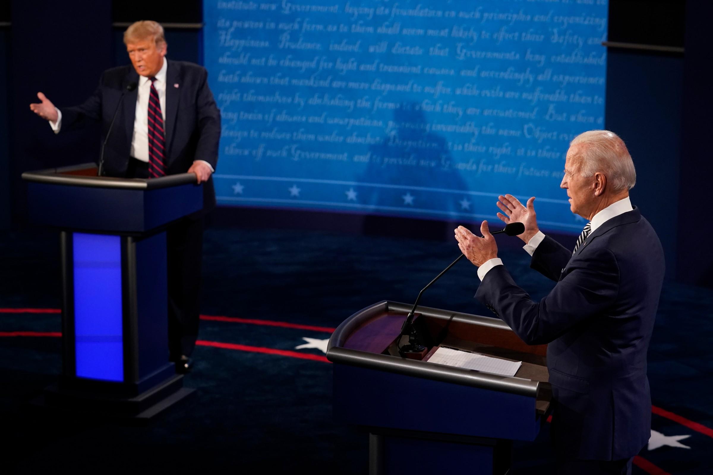 El primer debate Trump-Biden, un festival de interrupciones e insultos |  Electomanía