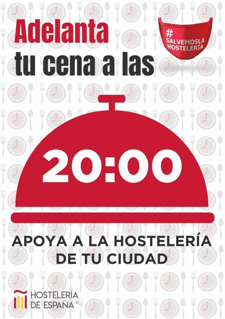La Hostelería española pide a los ciudadanos adoptar el 'horario europeo' y adelantar la cena a las 20:00