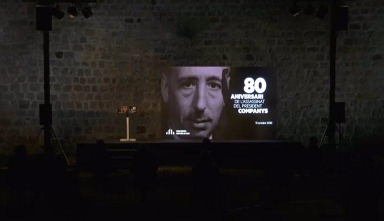 El homenaje a Companys se convierte en el punto de partida de las elecciones catalanas