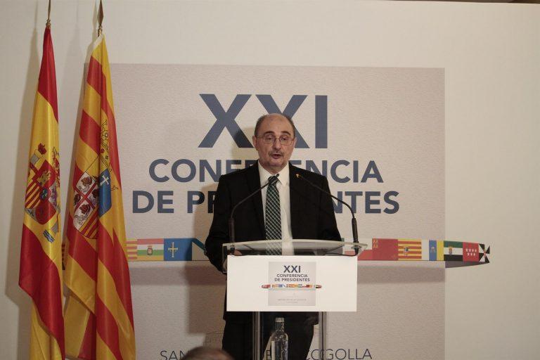 El Presidente de Aragón, Javier Lambán, ingresado en el hospital