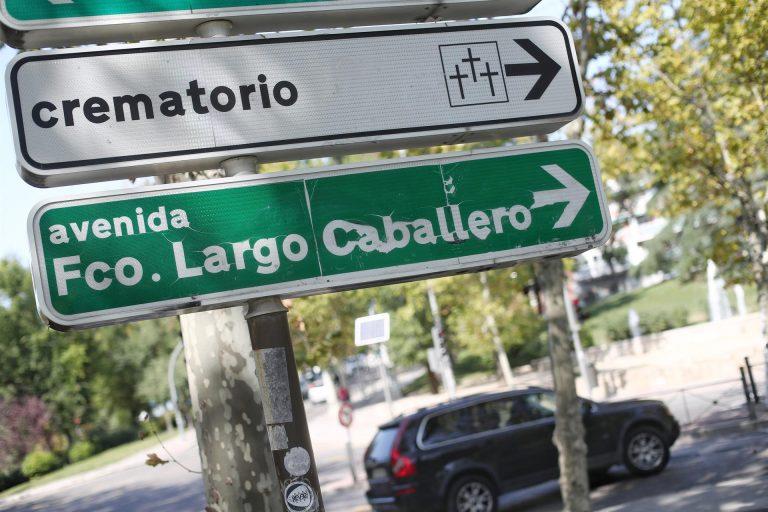 Madrid inicia el expediente para renombrar las calles Largo Caballero e Indalecio Prieto