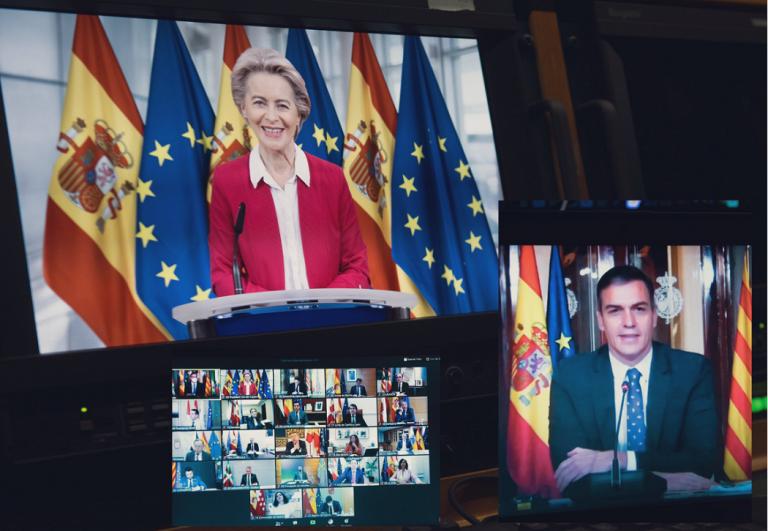 Larga reunión de Sánchez con los líderes autonómicos y Von der Leyen
