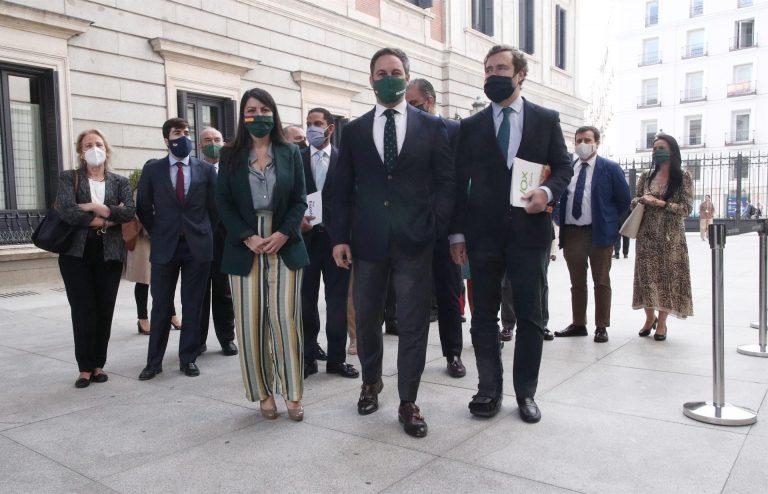 El Congreso prevé debatir los días 21 y 22 la moción de censura de Vox contra Pedro Sánchez