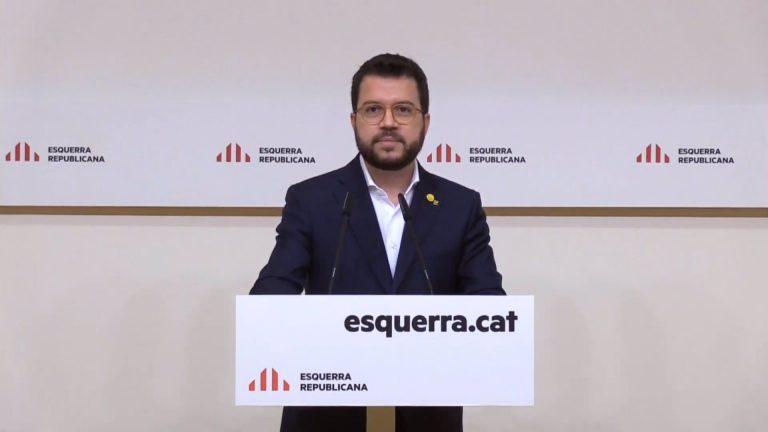 Aragonès anuncia que quiere ser el candidato de ERC a la presidencia de la Generalitat