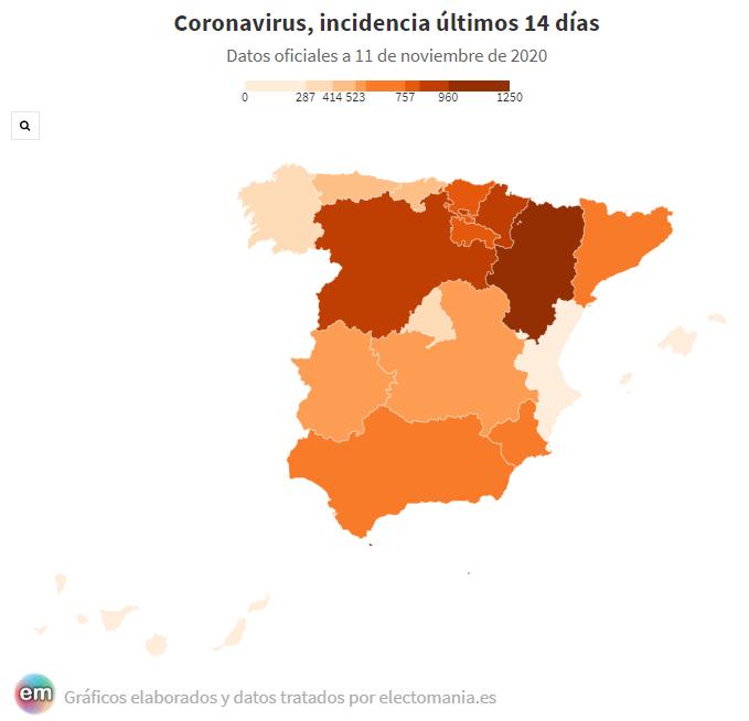 Madrid, la comunidad interior con menos incidencia. Canarias, la mejor de España