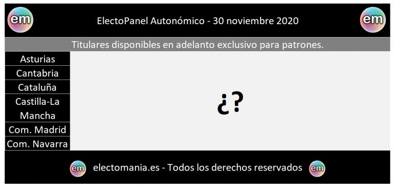 Titulares ElectoPanel Autonómico 30N