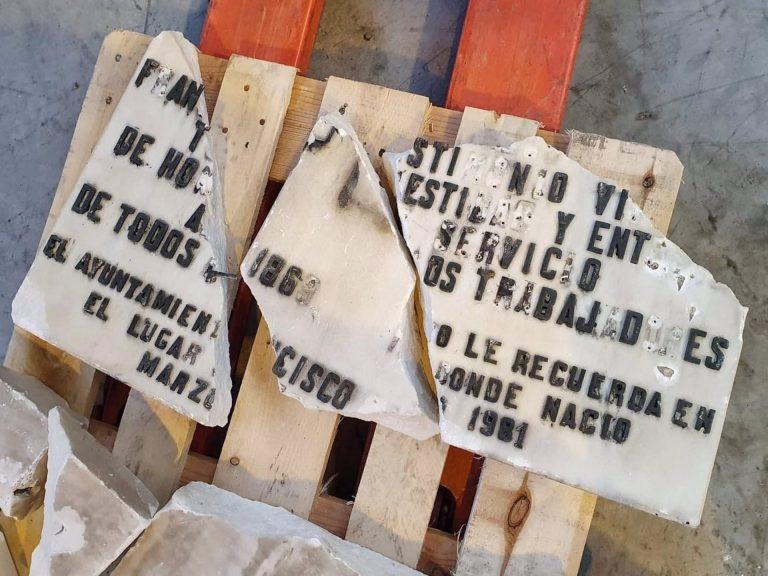 UGT se querellará contra el ayuntamiento de Madrid por daños en la placa a Largo Caballero