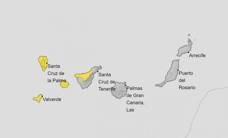La tormenta tropical 'Theta' provocará vientos de 80 km/h en 4 islas de Canarias