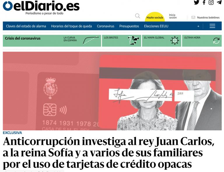¿Repudio Real a la vista? Anticorrupción investiga a la Reina Sofía, Juan Carlos y varios familiares por usar tarjetas black