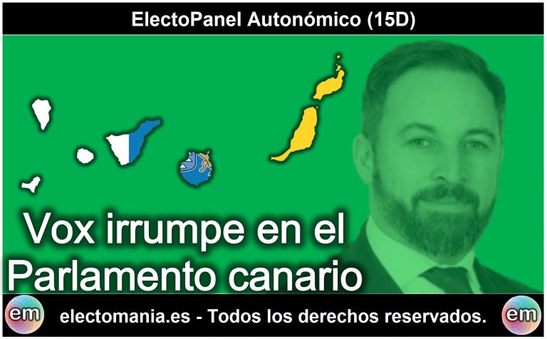 ElectoPanel Autonómico (15D): Vox irrumpe en el Parlamento canario