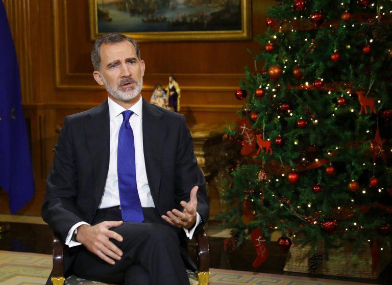 Felipe VI evita mencionar explícitamente a su padre en el mensaje de Navidad y habla de 'principios éticos y morales'