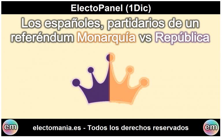 EP (1Dic): los españoles, partidarios del referéndum entre Monarquía/República