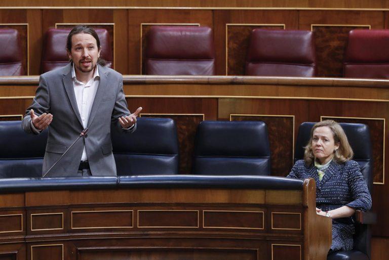 """Calviño ve """"chocante"""" que Unidas Podemos """"cuestione"""" o """"contradiga"""" las decisiones que adopta el propio Gobierno"""
