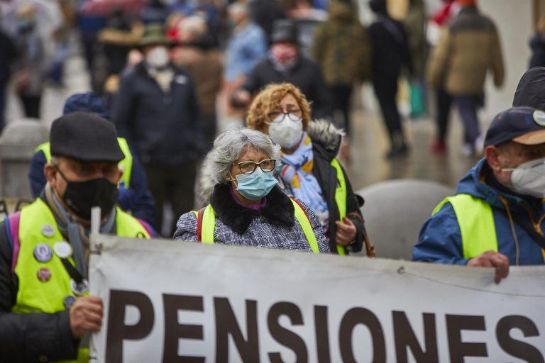 Manifestación de pensionistas en Madrid contra el Pacto de Toledo