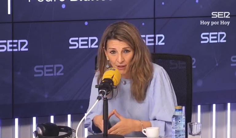 """Yolanda Díaz sigue defendiendo subir el SMI: """"¿por qué dejamos fuera a los más débiles?"""""""