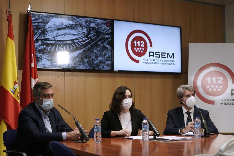 Ayuso pide «paciencia» ante situaciones inéditas e insiste en que apoyará las peticiones de zona catastrófica