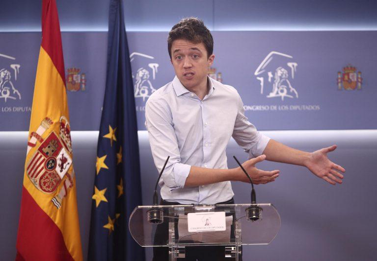 Íñigo Errejón señala que «nadie está por encima de nadie para recibir la vacuna» tras la dimisión del JEMAD