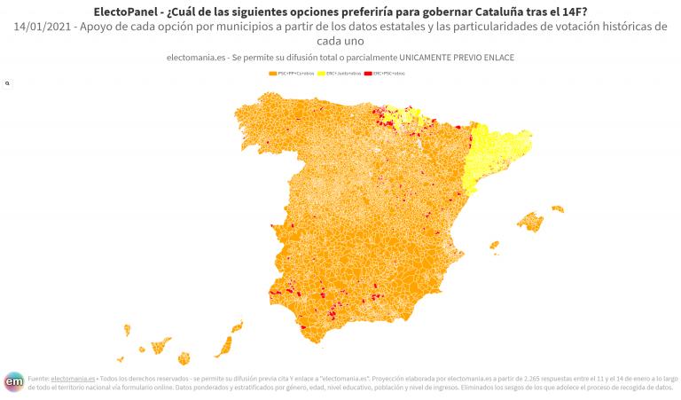 EP (14E): los ciudadanos prefieren un Gobierno 'Constitucionalista' para Cataluña, los catalanes uno independentista