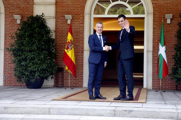 Pedro Sánchez recibe hoy a Iñigo Urkullu en La Moncloa