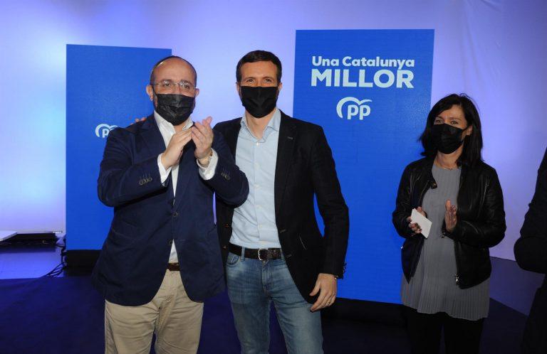 Casado visita hoy Tarragona y el PP se vuelca en la recta final ante las noticias de perder votos por Vox y Bárcenas