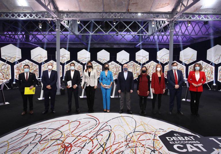 Mucha crispación en el último debate para el 14F