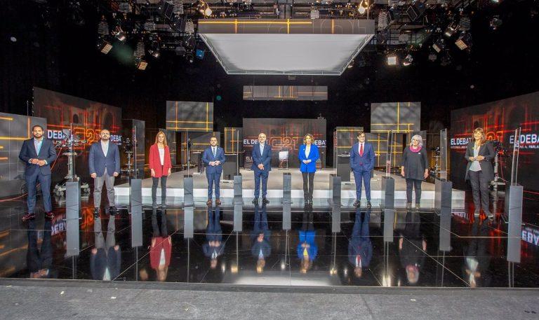 Debate en TV3: los candidatos discrepan sobre los pactos necesarios tras el 14F