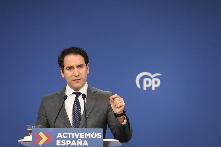 """García Egea dice que la auténtica """"anormalidad democrática"""" es la coalición """"PSOE-Podemos"""""""