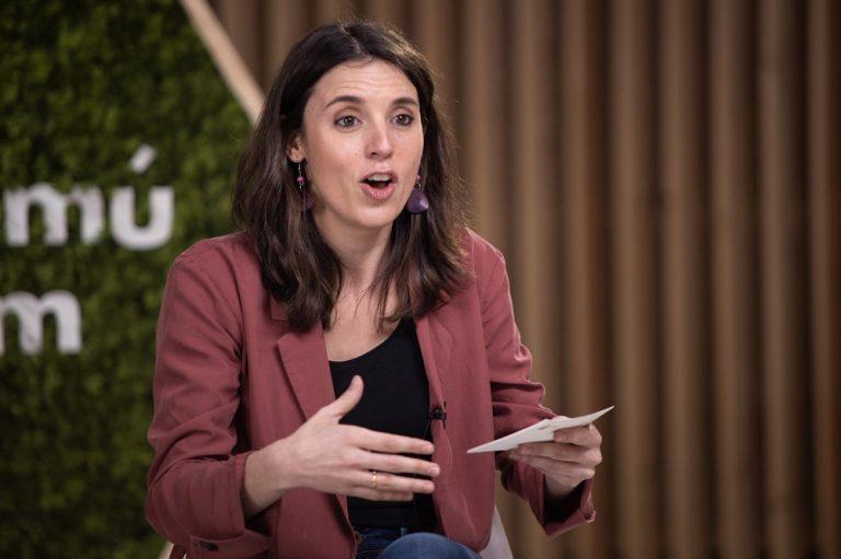 Irene Montero:  «Decir que a España le queda por avanzar en valores democráticos es decir la verdad»