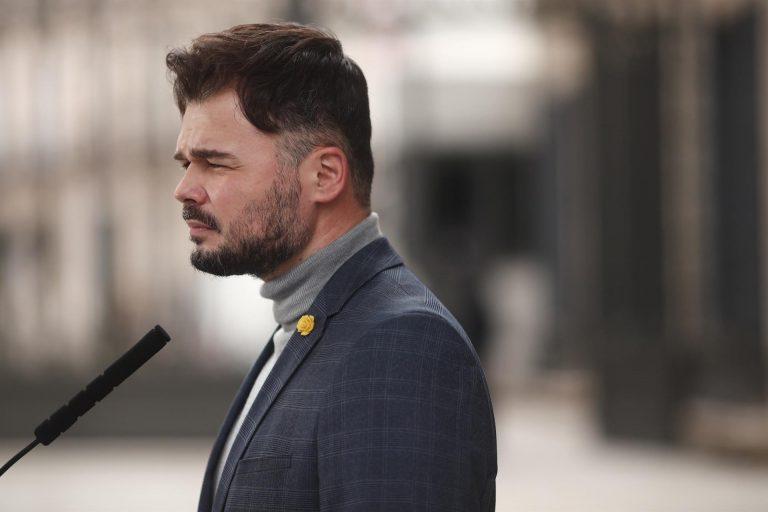 Rufián ve «positivo» que Iglesias verbalice que «España tiene enormes carencias democráticas»: «Es una obviedad»