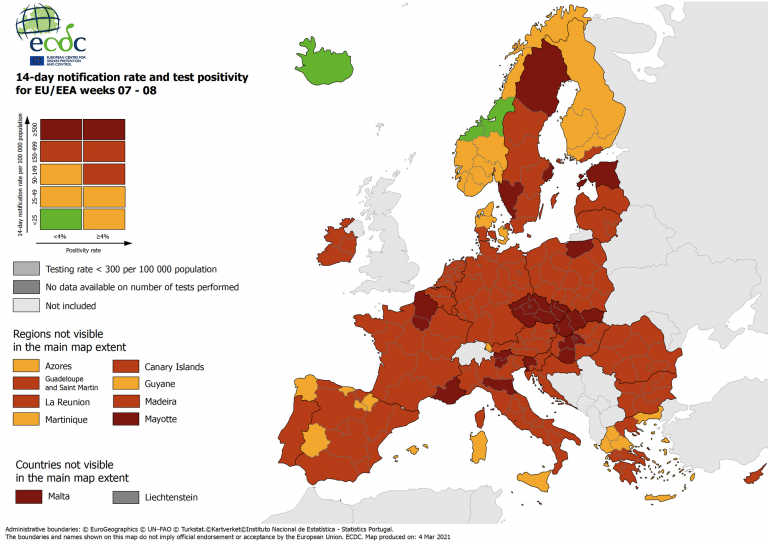 Varias comunidades españolas están ya en riesgo medio-bajo