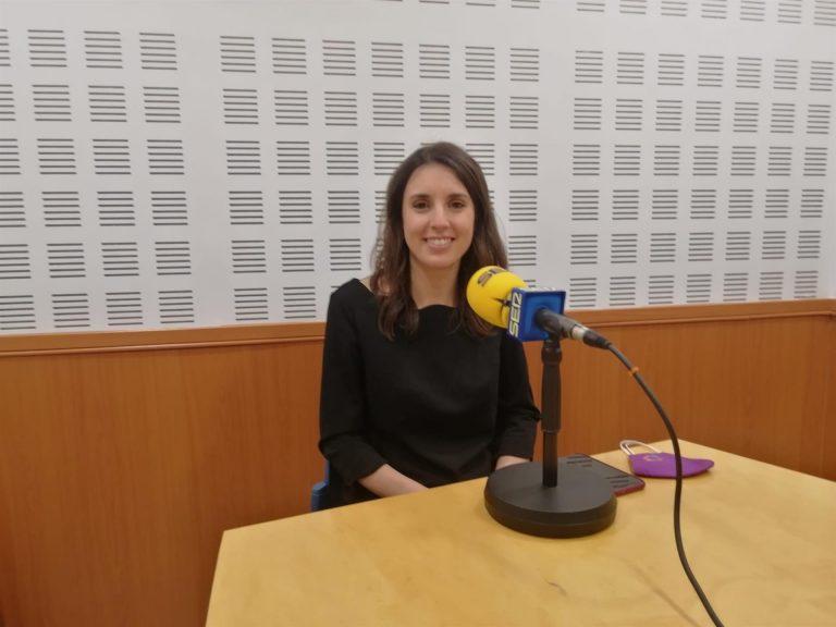 """Irene Montero ve a la Junta de Andalucía """"muy poco implicada con el feminismo"""" y siguiendo """"las indicaciones"""" de Vox"""