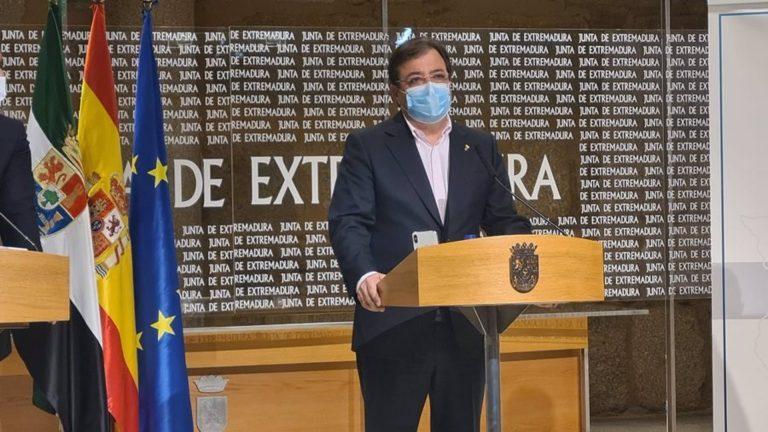 El presidente extremeño será vacunado con AstraZeneca el próximo fin de semana en el Universitario de Badajoz
