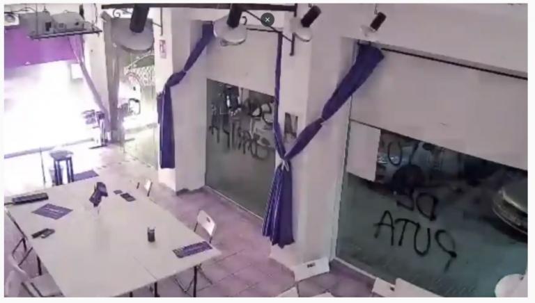 Ataque con artefactos explosivos esta noche en la sede de Podemos Cartagena