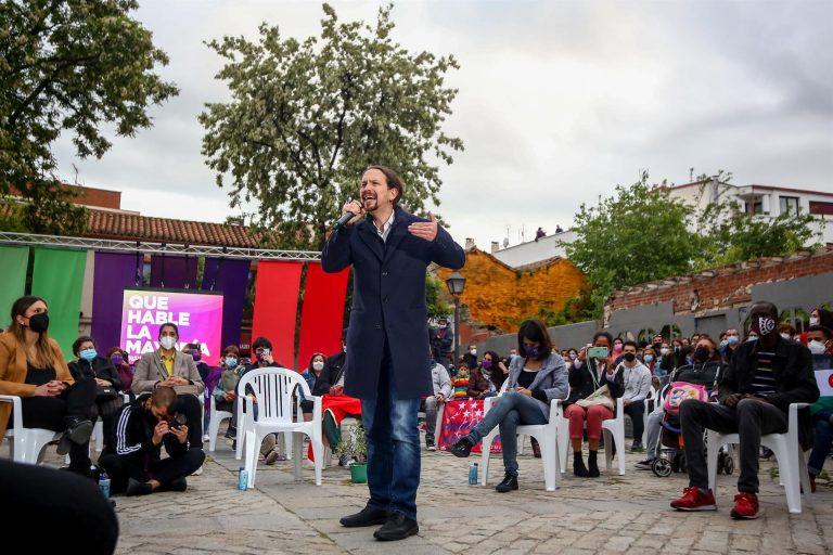Iglesias dice que el fascismo forma parte de proyecto de Ayuso, que parece más la candidata de ultraderecha que Monasterio