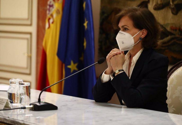Carmen Calvo saldría del Gobierno, según La Razón