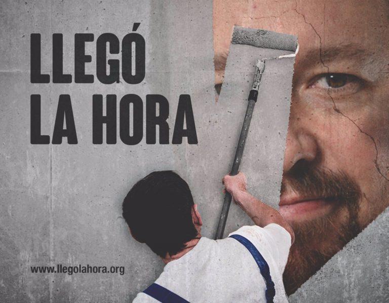 """Hazte Oír lanza una campaña publicitaria en Metro contra Pablo Iglesias: """"Llegó la hora"""""""