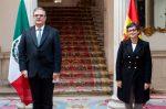La ministra de Asuntos Exteriores, UE y Cooperación, Arancha González Laya, y su homólogo de México, Marcelo Ebrard