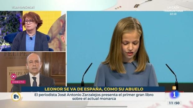El digital 'LUH!' afirma que Zarzuela exigió los despidos en rtve por el rótulo de 'Leonor se va de España, como su abuelo'. Casa Real lo niega