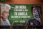 4M.- Iglesias denunciará a la Junta Electoral la propaganda «nazi» de Vox que compara pensiones con el gasto por mena