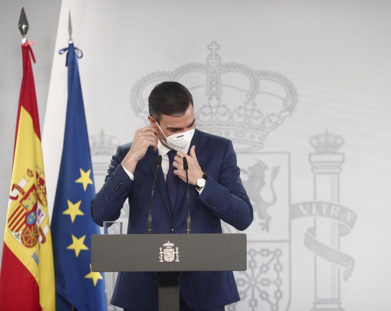Pedro Sánchez anuncia que las mascarillas dejarán de ser obligatorias el 26 de junio al aire libre