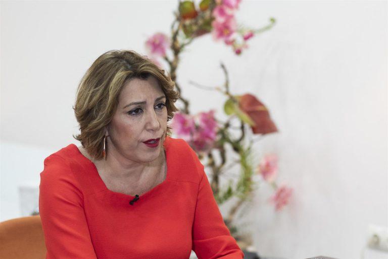 Susana Díaz: Moreno está «más preocupado de lo que le dice Vox y de cómo se entiende» con Cs que de los andaluces