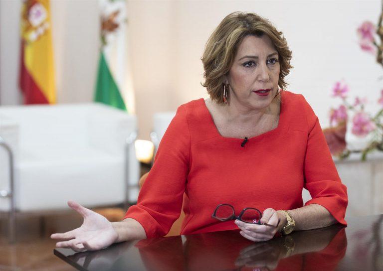Susana Díaz sobre el posible adelanto electoral en Andalucía: «Cuando haya elecciones, que ahora mismo no las hay, habrá primarias».