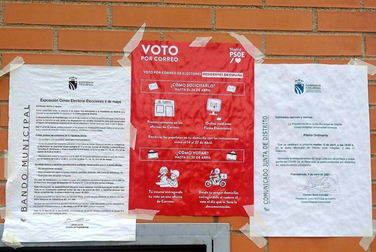 La Junta Electoral Central amplía hasta el 1 de mayo el voto por correo para las elecciones