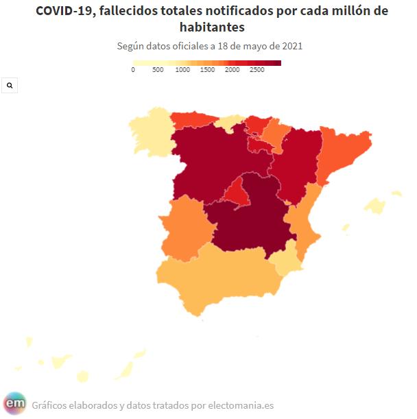 Tras casi 15 meses, el balance de la pandemia es muy desigual en las diversas zonas de España