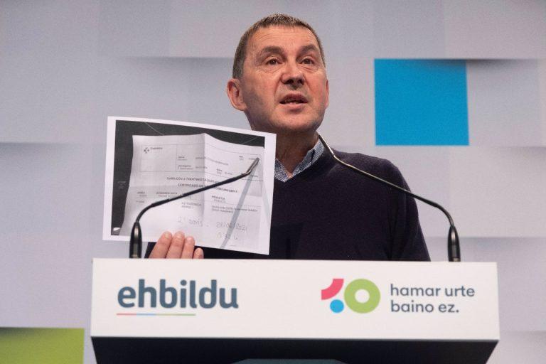 """Otegi achaca los incidentes de fin de semana en Euskadi al """"modelo de ocio impuesto por el neoliberalismo"""""""